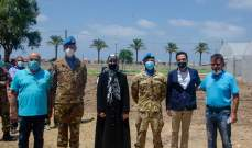 الكتيبة الإيطالية باليونيفيل افتتحت مشروع الزراعة الاجتماعية والزراعة العضوية لصالح مؤسسات الصدر