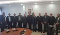 حسن إلتقى وفدا من اتحاد بلديات بعلبك ووعد باستكمال مسيرة مكافحة الهدر