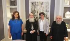 البطريرك ثيوفيلوس الثالث يلتقي الأمينة العامة لمجلس كنائس الشرق الأوسط