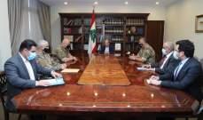 عون أكد أهمية تصحيح حدود لبنان البحرية وفقاً للانظمة الدولية وحقه باستثمار ثرواته