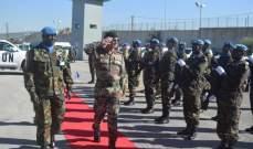 المدير العام لمهمات الوحدات الهندية في اليونيفيل جال في الجنوب