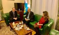 مخزومي التقى بوغدانوف: لأهمية الإسراع في تشكيل حكومة انقاذية