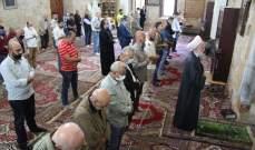 أسامة سعد أدى صلاة عيد الفطر في المسجد العمري الكبير بصيدا القديمة
