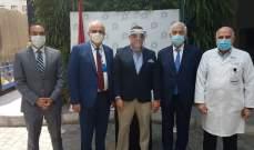 سفير مصر زار مستشفى المقاصد: قدمنا طنين من المساعدات الطبية
