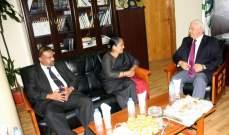 رئيس بلدية طرابلس بحث مع سفيرة سري لانكا في تعزيز العلاقات والتبادل التجاري والإستثماري