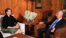 فرنجيه استقبل السفيرة الاسترالية والبحث تناول مشاريع انمائية واجتماعية