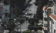النشرة: السيارة المشتبة بها قرب مجمع الزهراء بصيدا خالية من اي متفجرات