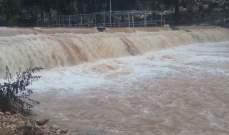 النشرة: ارتفاع منسوب مياه نهر الحاصباني إلى أعلى معدلاته