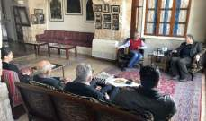 ارسلان عرض مع وفد جبهة تحرير فلسطين للتطورات على الساحة الفلسطينية
