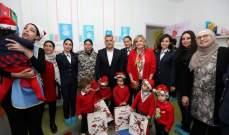 ابراهيم وكلودين عون روكز تفقدا مركز الحضانة المخصصة لأطفال عسكريي الأمن العام