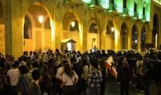 تجمع لعدد من المعتصمين أمام وزارة الداخلية ومجلس النواب