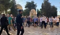 عشرات المستوطنين يقتحمون المسجد الأقصى بحماية الجيش الإسرائيلي