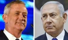 نتانياهو دعا منافسه غانتس إلى الانضمام إليه لتشكيل حكومة وحدة موسعة