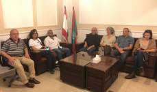 سعد التقى وفداً من جمعيات فرنسية داعمة للقضية الفلسطينية