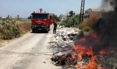 اطفاء صيدا اخمدت ست حرائق في مدينة صيدا ومنطقتها