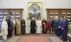 البابا فرنسيس التقى وزير الداخلية الإماراتية في الفاتيكان بحضور الطيب