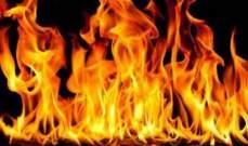 حريق داخل غرفة الكهرباء في مجمع حزب الله بالصرفند