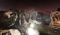 الدفاع المدني: مصاب بحريق داخل مخيم للنازحين السوريين في عنجر- البقاع الأوسط