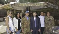الكتيبة الايطالية شاركت في افتتاح العام الدراسي للجامعة اللبنانية الدولية في صور