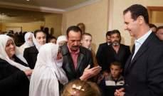 الأسد: حريصون على الوصول إلى المخطوفين في المناطق السورية وتحريرهم بأي طريقة