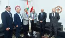 جمعية اعضاء جوقة الشرف بلبنان قدمت هبة مالية لدعم بنوك الدم التابعة للصليب الاحمر اللبناني