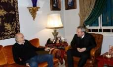 جنبلاط استقبل سفيري بريطانيا والصين وأبرق إلى العاهل السعودي معزيا