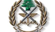 الجيش: توقيف أشخاص في منطقة قب الياس ـــ البقاع لإقدامهم على إطلاق النار في الهواء