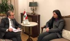 دشتي زارت الخارجية والتقت باسيل: لمست دعم الحكومة اللبنانية للإسكوا