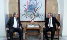 جريصاتي التقى السفير البريطاني وبحث معه آخر المستجدات