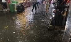 النشرة: فيضانات في مدينة صيدا جراء الأمطار الغزيرة