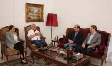 سعد يستقبل قنصل مصر العام في لبنان المستشار جواد سامي وخلفه المستشار أحمد الامام