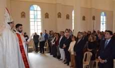 نفاع خلال تدشين مذبح كنيسة سيدة المهجرين: كل مهجر هو ابن هذه الأرض