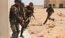 مقتل 11 مسلحاً في تبادل لإطلاق النار مع قوات الأمن المصرية شمال سيناء