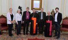 الراعي استقبل رئيس اتحاد بلديات بشري ووفدا من الكنيسة اللوثرية في الدانمارك وشخصيات اخرى