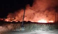 النشرة: حريق داخل حقل من القمح في الكرك- زحلة
