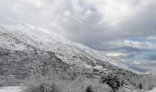 النشرة: طريق شبعا عين عطا عبر وادي جنعم مقطوعة بسبب تراكم الثلوج