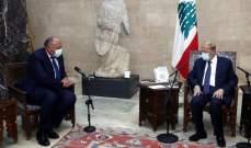 مصادر الجمهورية: لقاء عون وشكري لم يكن مشجعا