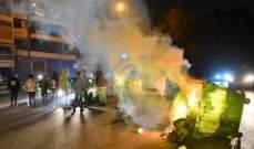 قطع طريق رياض الصلح في صيدا محلة البوابة الفوقا والقوى الأمنية تتدخل