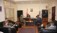 النشرة: محافظ النبطية التقى قائد القطاع الشرقي باليونفيل