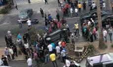 النشرة: نجاة سائق من انقلاب سيارة رباعية الدفع على الاوتوستراد الشرقي لمدينة صيدا