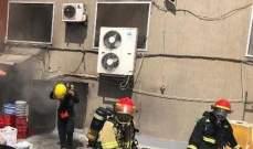 الدفاع المدني: إخماد حريق داخل مطعم في النبطية وإصابة عاملين بحروق