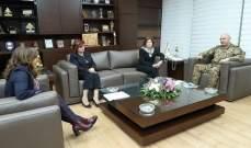 قائد الجيش التقى وفداً من مؤسسة Sesobel