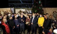فرعون خلال اضاءة شجرة مار مخايل: افجار بيروت لم ولن ينسى أبدا