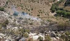 الدفاع المدني أخمد حريقا اندلع في منطقة العريض ببلدة يحمر