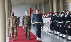 وصول رئيس أركان الجيوش الفرنسية إلى قيادة الجيش باليرزة