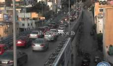 حركة المرور كثيفة على جسر برج حمود من الدكوانة بإتجاه الاشرفية