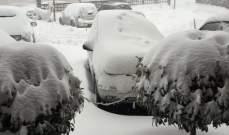 الثلوج حاصرت شبانا في اعالي جبال عكار والعمل جار لإنقاذهم