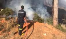 إخماد حريق قرب سرايا الهرمل التهم أشجارا وقارب المنازل