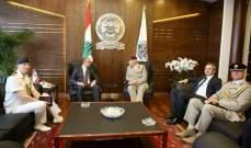بو صعب التقى كبير مستشاري وزارة الدفاع البريطانية وعرض معه نتائج زيارته لبريطانيا