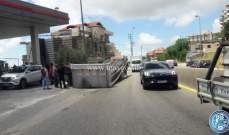 التحكم المروري: انفصال قاطرة عن مقطورة على طريق ضهور العبادية نحو صوفر
